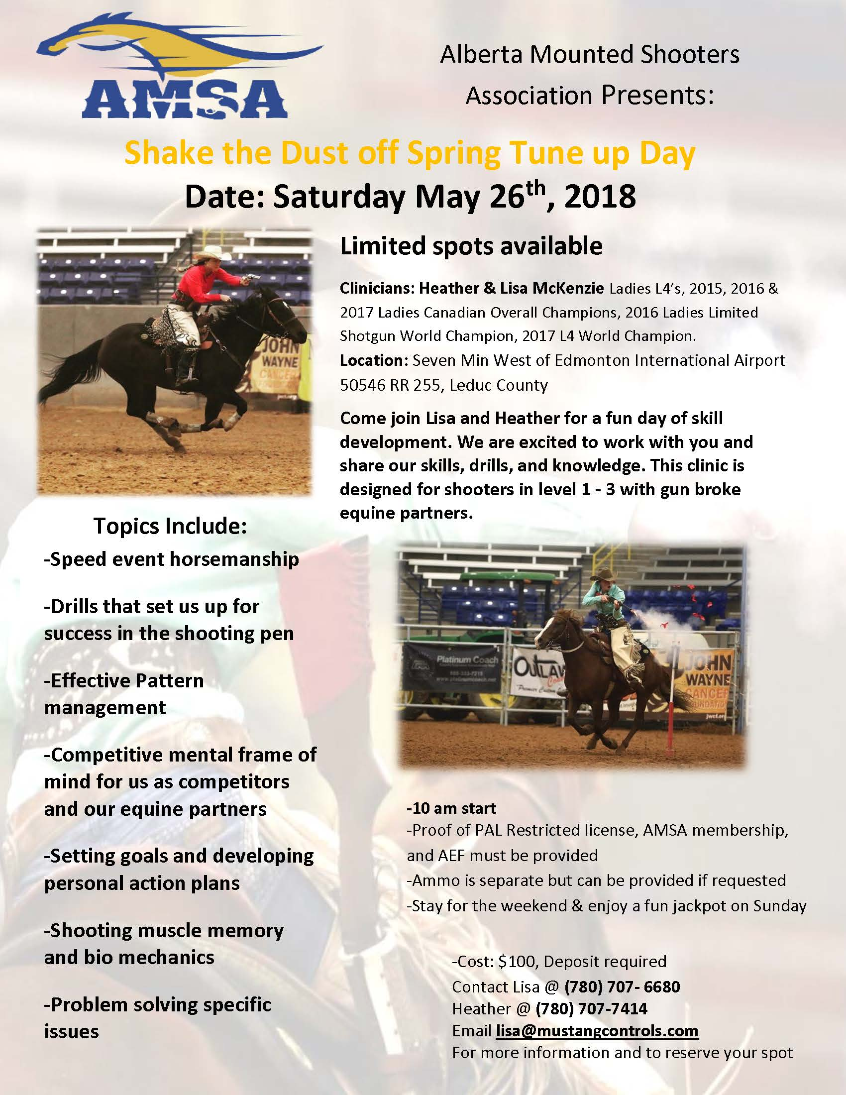 2018 mounted shooting clinic