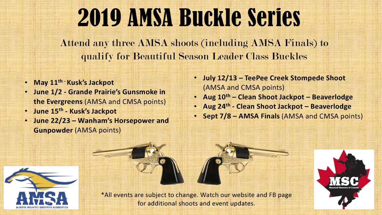 2019 AMSA Buckle Series updated